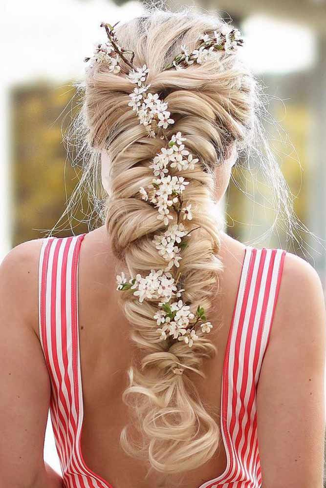 Topsy Tail With Flowers #braids #topsytail