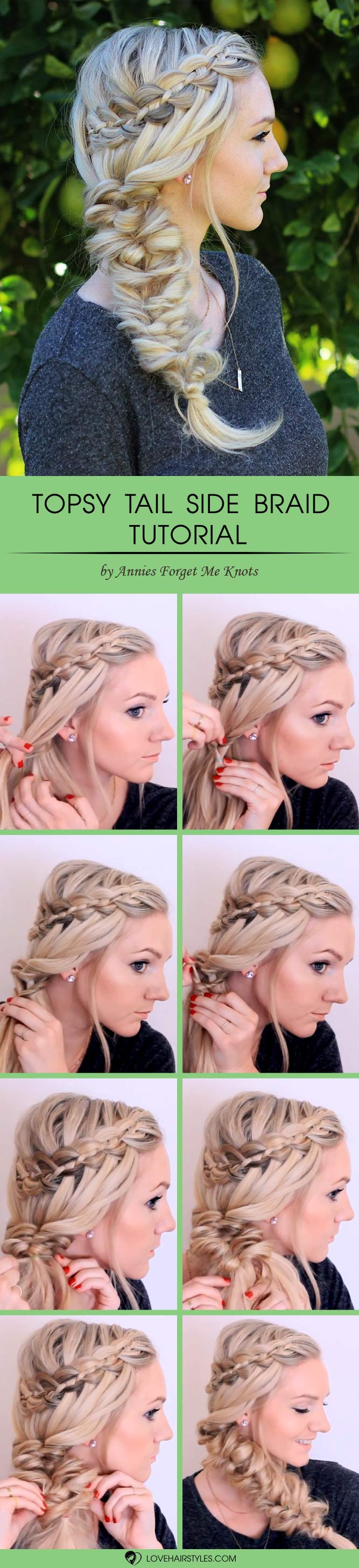 Topsy Tail Side Braid #topsytail #tutorials #hairstyles