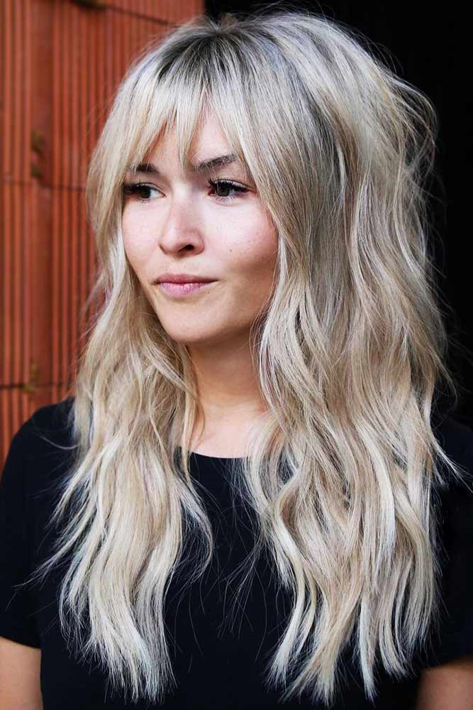 Wispy Bangs With Natural Texture #bangs #wavyhair