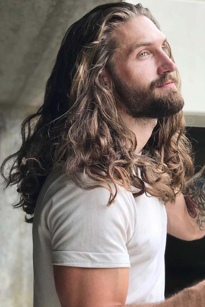 Long Messy Curls #curlyhair #curlyhairmen #longhair #messyhair #guyswithlonghair