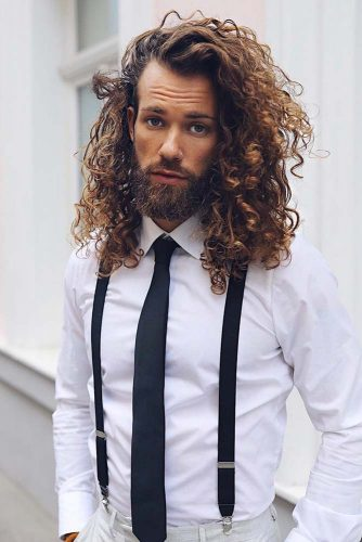 Long Curls With Texture #curlyhair #curlyhairmen #longhairmen #guyswithlonghair