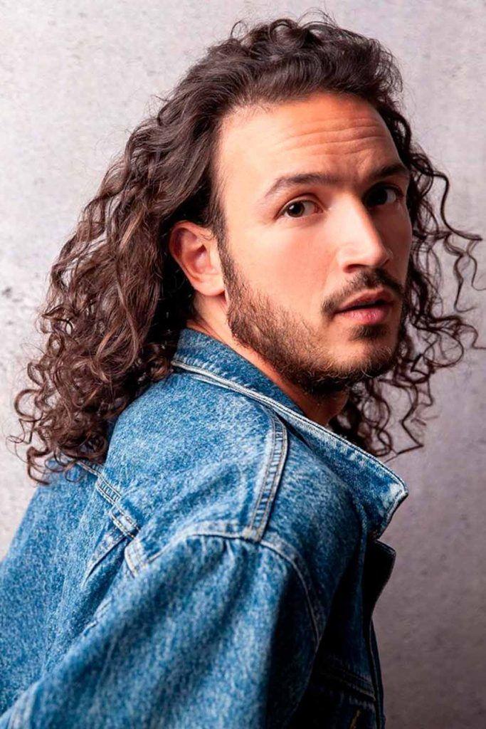 Long Messy Curls For Men