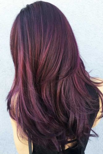 Aubergine Hair Color #redhair