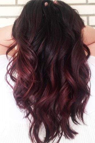 Black Cherry Hair #redhair #ombre