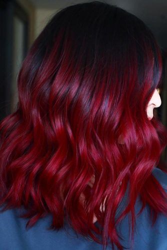 Cherry Cola Balayage #redhair #darkredhair