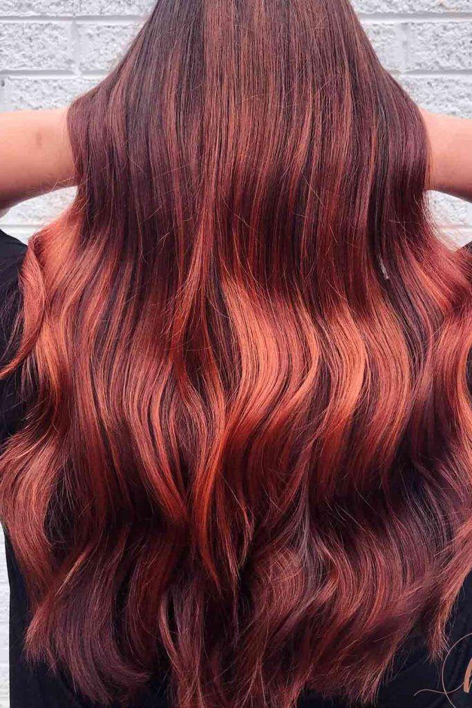 Deep Auburn Hair
