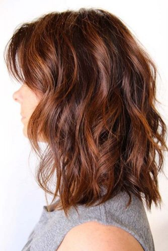 Medium Auburn Hair #redhair #highlights