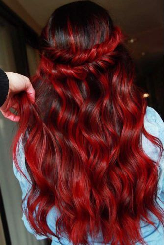 Russian Red Hair #redhair #darkredhair