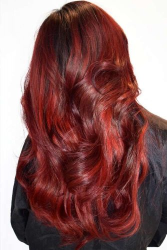 Red Velvet Hair Color #redhair #balayage