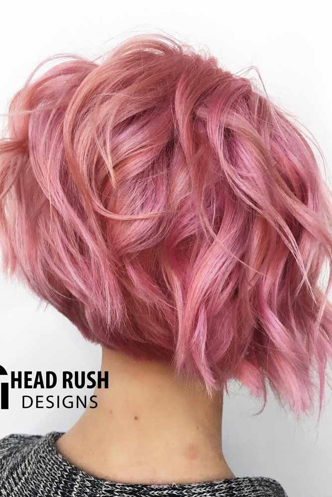 Short Rose Bob With Feathered Ends #featheredhair #featheredhaircuts #haircuts