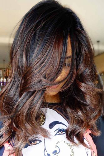 Feathered Side Fringe With Long Hair  #featheredhair #featheredhaircuts #haircuts #longhair