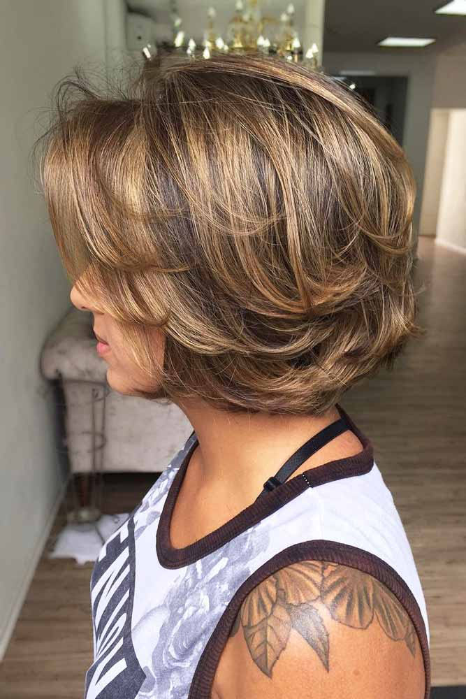 Soft Bob With Flipped Ends #featheredhair #featheredhaircuts #haircuts #shorthair #bobhaircut