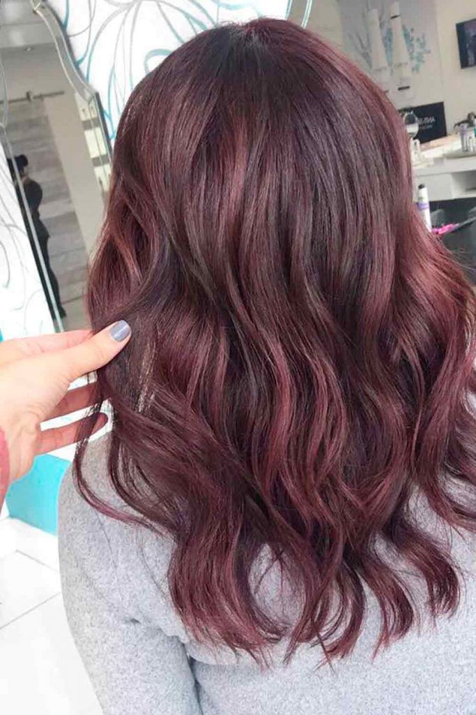 Violet Mahogany For Brunettes