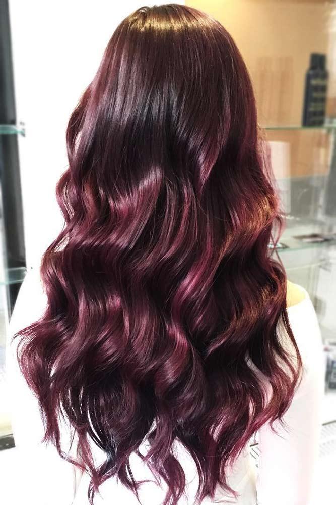 Burgundy Mahogany #redhair #brunette #highlights