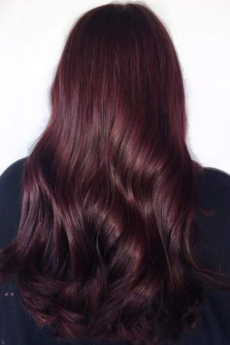Deep Aubergine #redhair #brunette