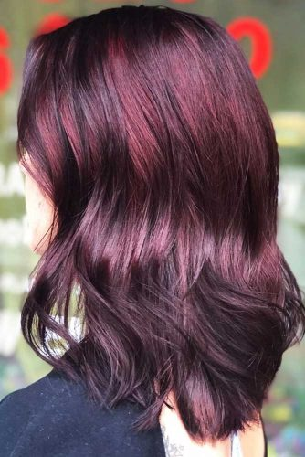 Grapevine Mahogany #redhair #brunette #highlights