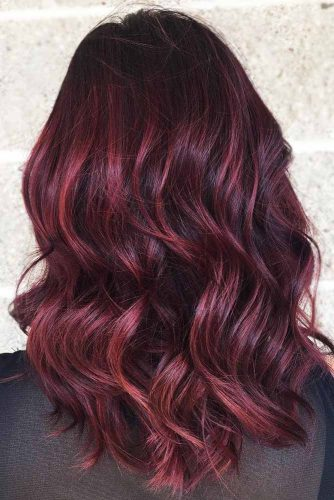 Lighter Mahogany Color #redhair #highlights