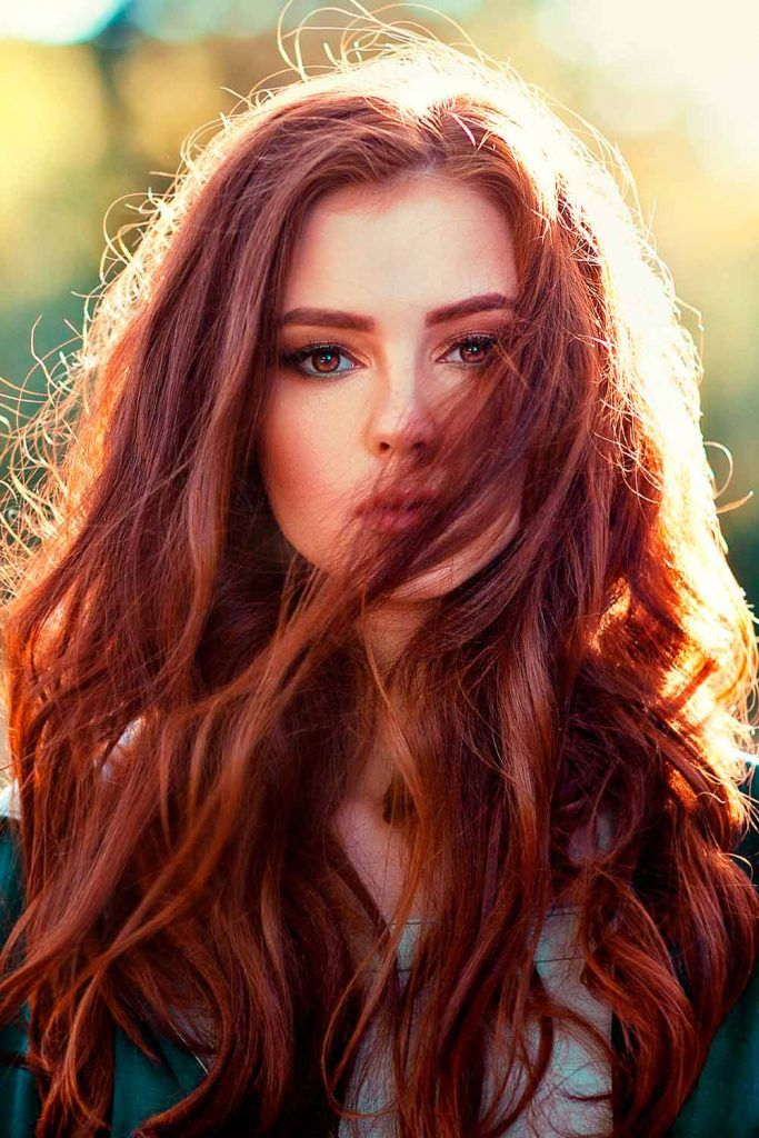 Fiery Mahogany Hair