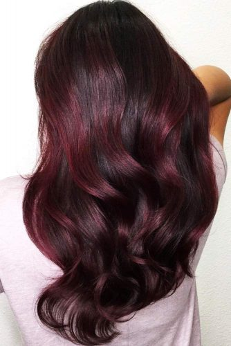 Midnight Rose Balayage #redhair #balayage #brunette