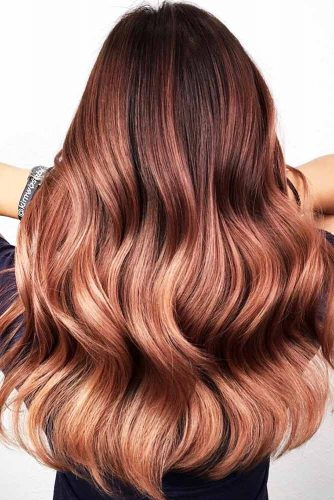 Mahogany To Rose Gold Ombre #redhair #ombre