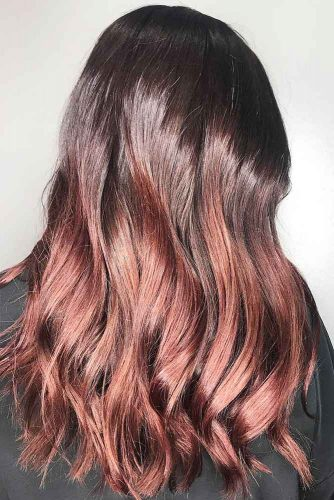 Mahogany Sunset Ombre #redhair #brunette #ombre