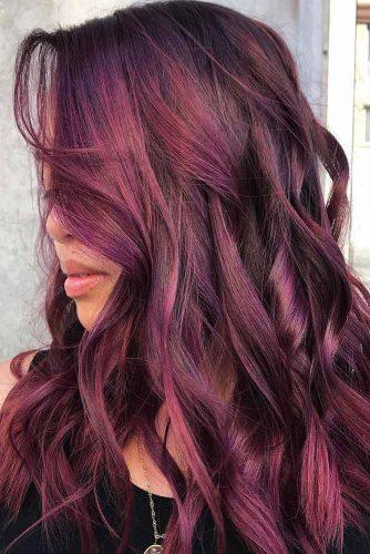 Violet Mahogany For Brunettes #redhair #highlights #brunette