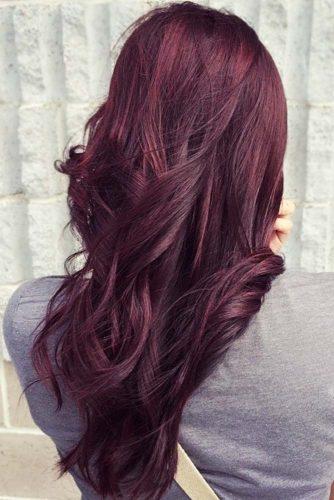 Violet Mahogany Hair #redhair #purplehair