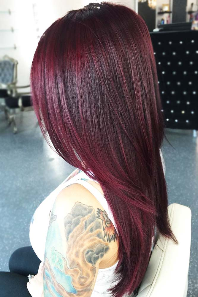 Wine Red Mahogany #redhair