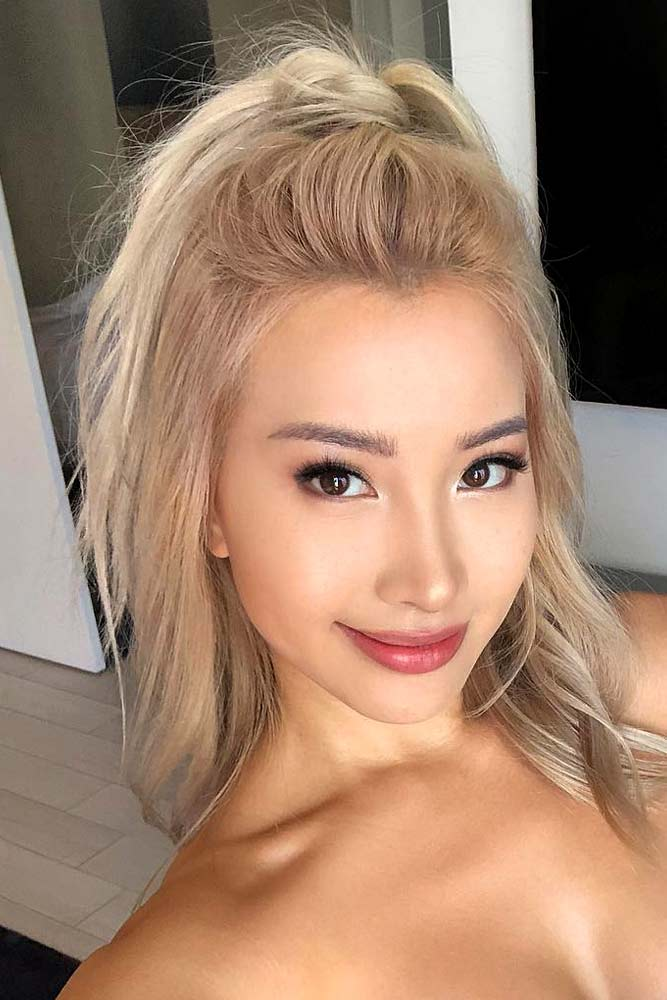 Half Up Ponytail #asianhairstyles #hairstyles #ponytail