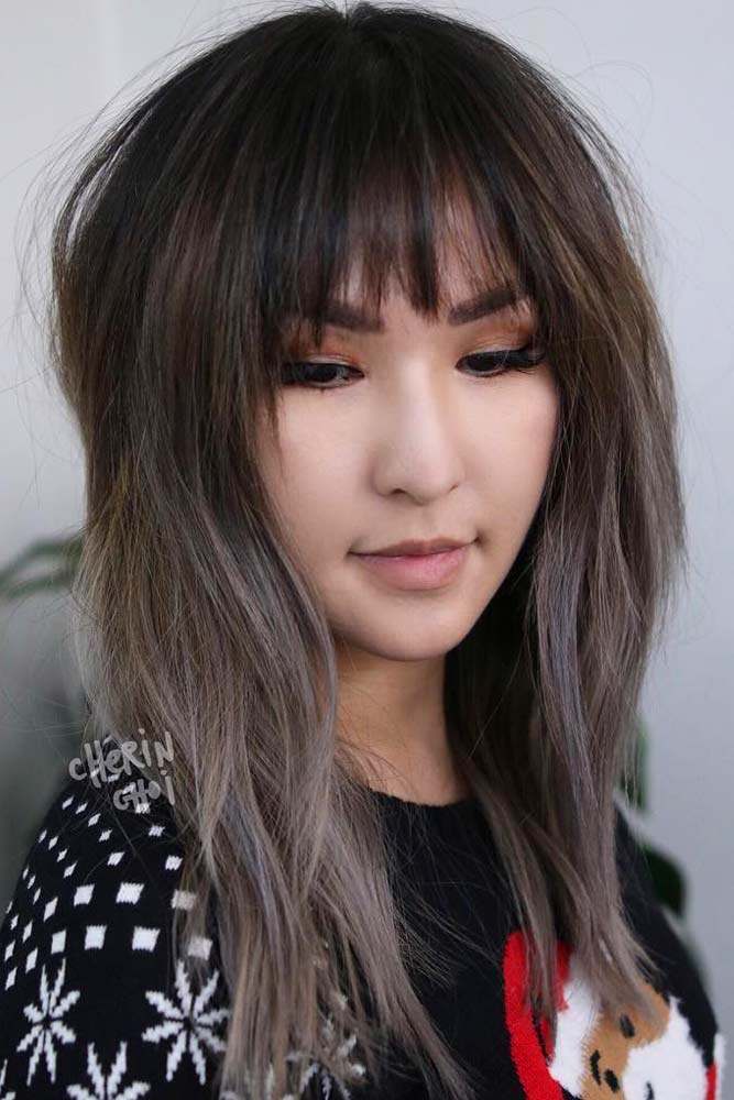 Layered Long Hairstyle With Bangs #asianhairstyles #hairstyles #longhair #layeredhair
