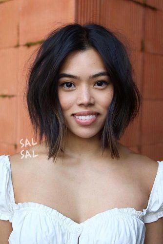 Layered Medium Bob #asianhairstyles #hairstyles #bobhairstyle
