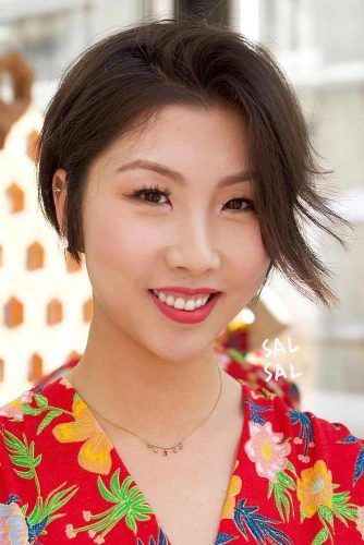 Side Parted Pixie #asianhairstyles #hairstyles #pixiehairstyle