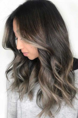 Ash Lights For Brunette #highlights #partialhighlights