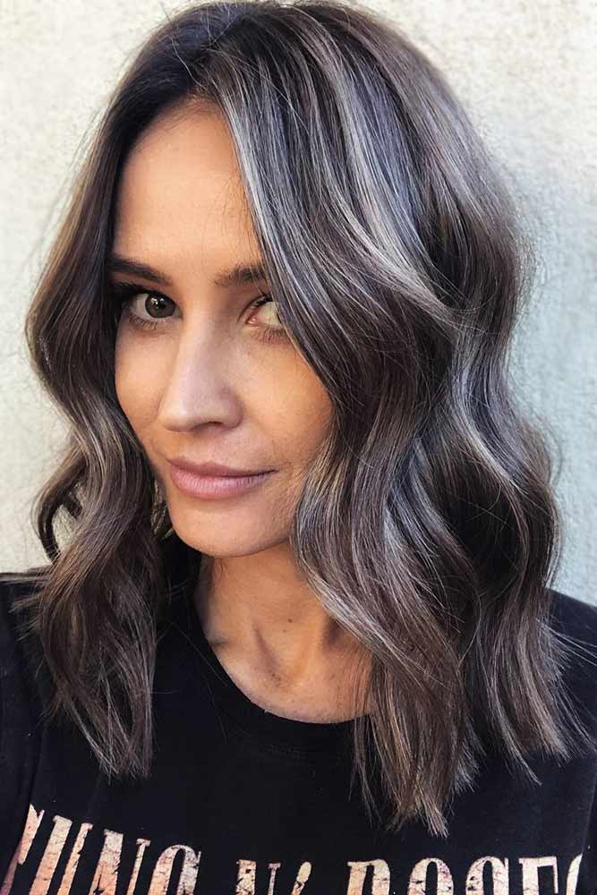 Ashy Toned Highlights #highlights #brunette #wavyhair