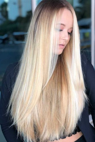 Baby Blonde Highlights #highlights #blondehair #longhair #straighthair