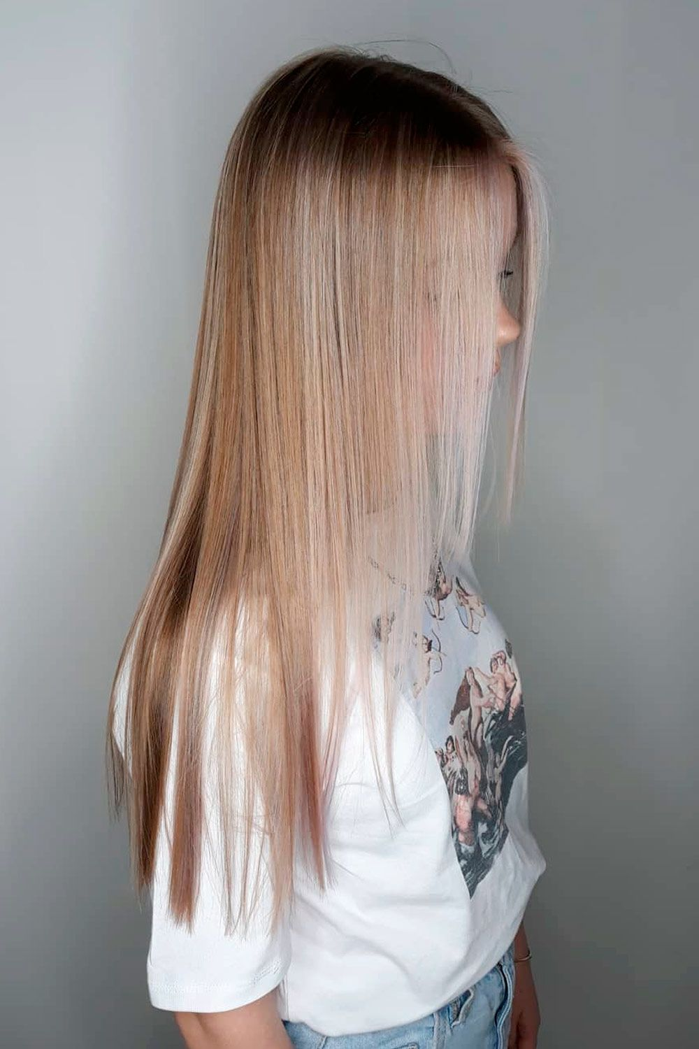 Long Hair With Partial Highlights