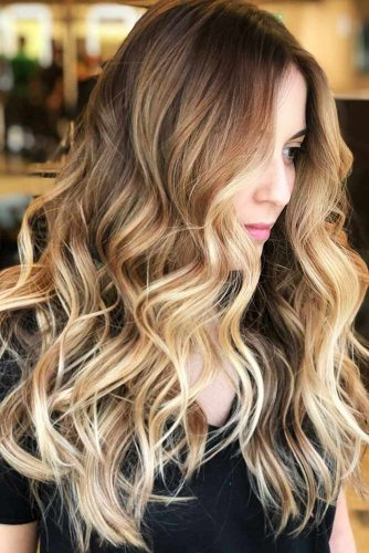 Soft Sandy Blonde Accents #highlights #brunette #wavyhair #longhair