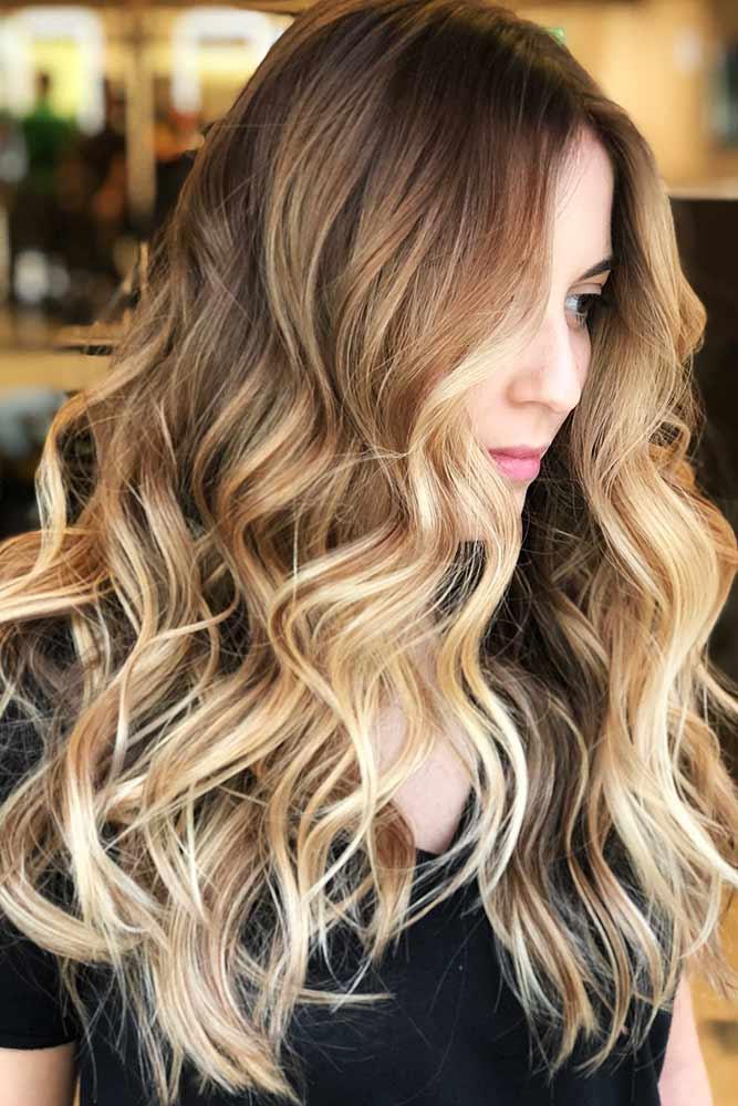 Soft Sandy Blonde Accents #highlights #brunette #wavyhair #longhair