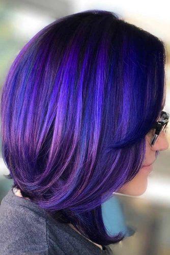 Demi-Permanent #temporaryhaircolor #brunette #violethair
