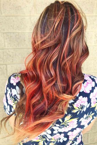 Semi-Permanent Hair Dye #temporaryhaircolor #redhair #highlights