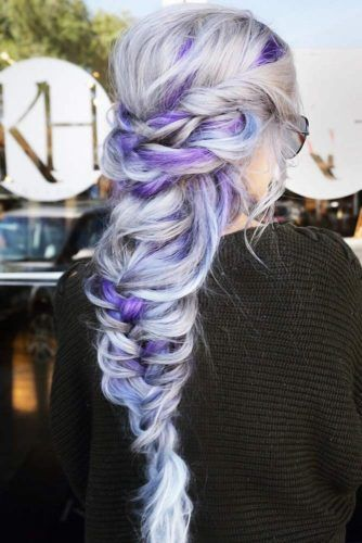 Cool Purple Streaks #temporaryhaircolor