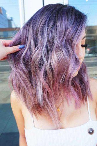 Pastel Violet To Lilac Ombre #temporaryhaircolor #ombre