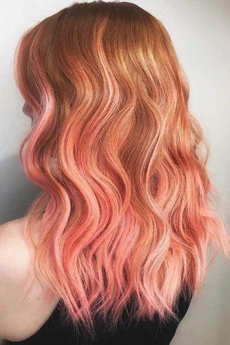Peachy Balayage #temporaryhaircolor