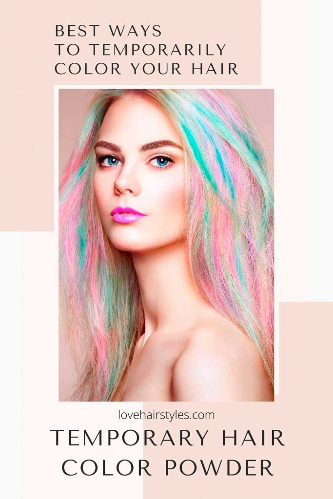 Temporary Hair Color Powder