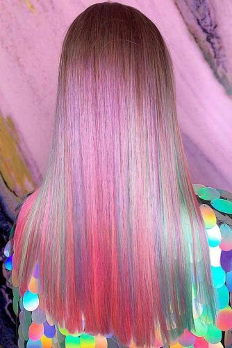 Purplish Rainbow #temporaryhaircolor