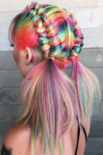 Classic Rainbow Coloring #unicornhair #rainbowhair