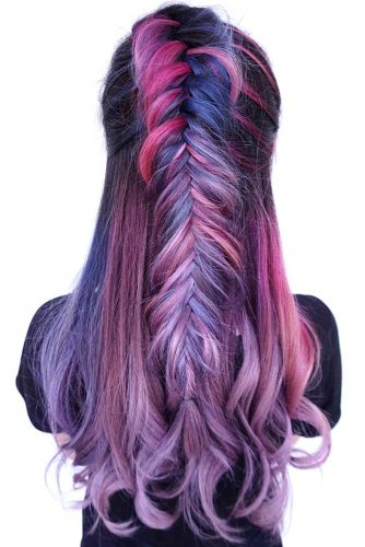 Dark Toned Unicorn #unicornhair #purplehair