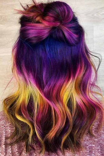 Dark Violet Unicorn #unicornhair #purplehair