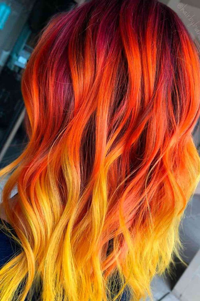 Fiery Unicorn Hair