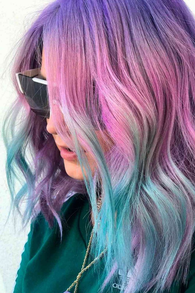 Frosty Unicorn Hair